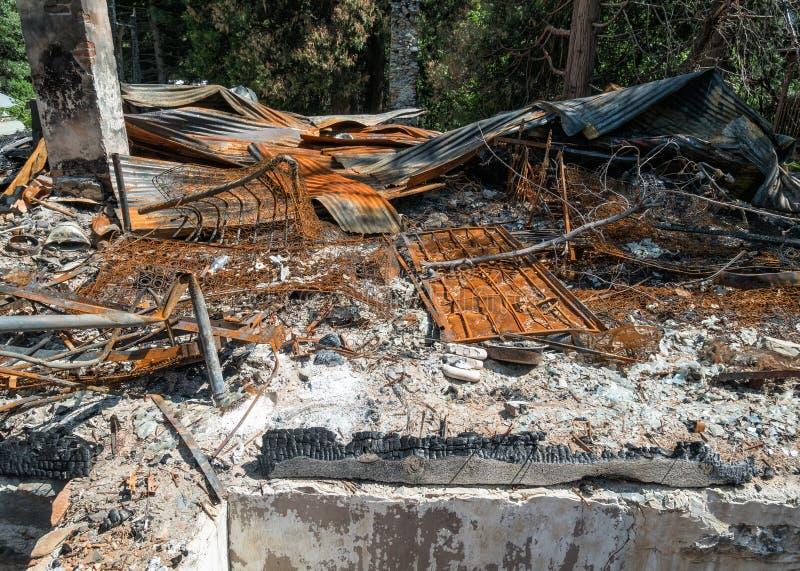 Огонь дома остается стоковое изображение rf