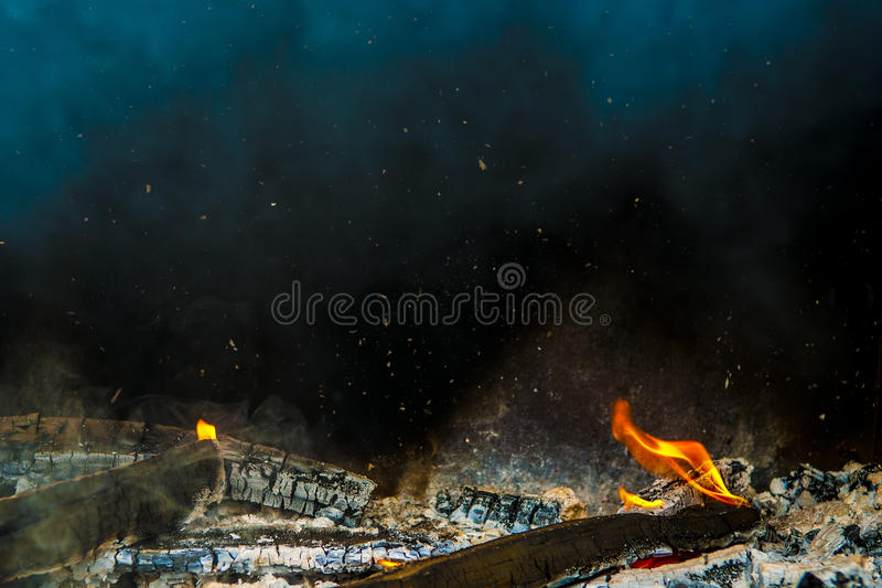 Огонь журнала стоковая фотография rf