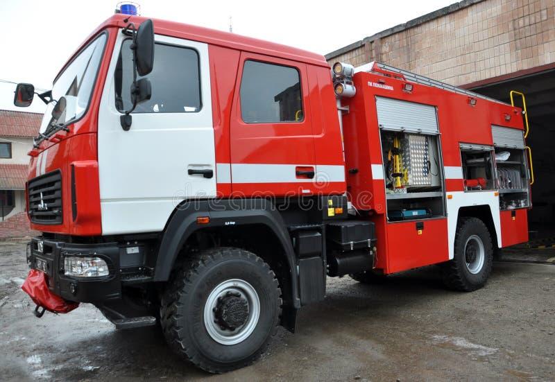 Огонь и автомобиль спасения стоковое фото rf