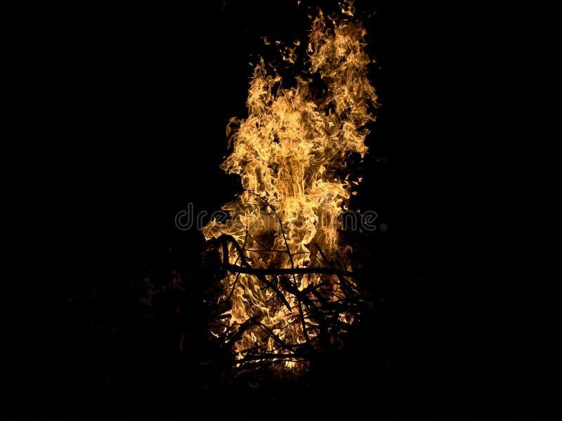 Огонь и пламя стоковое фото rf