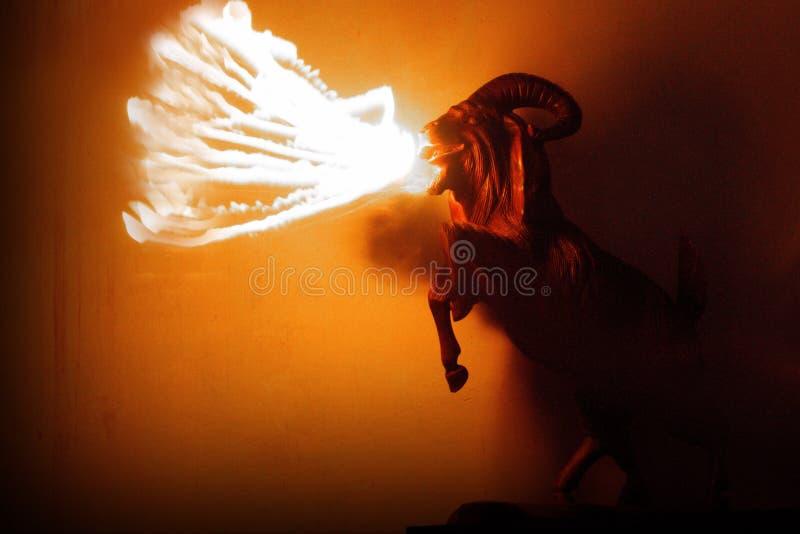 Огонь козы стоковое изображение