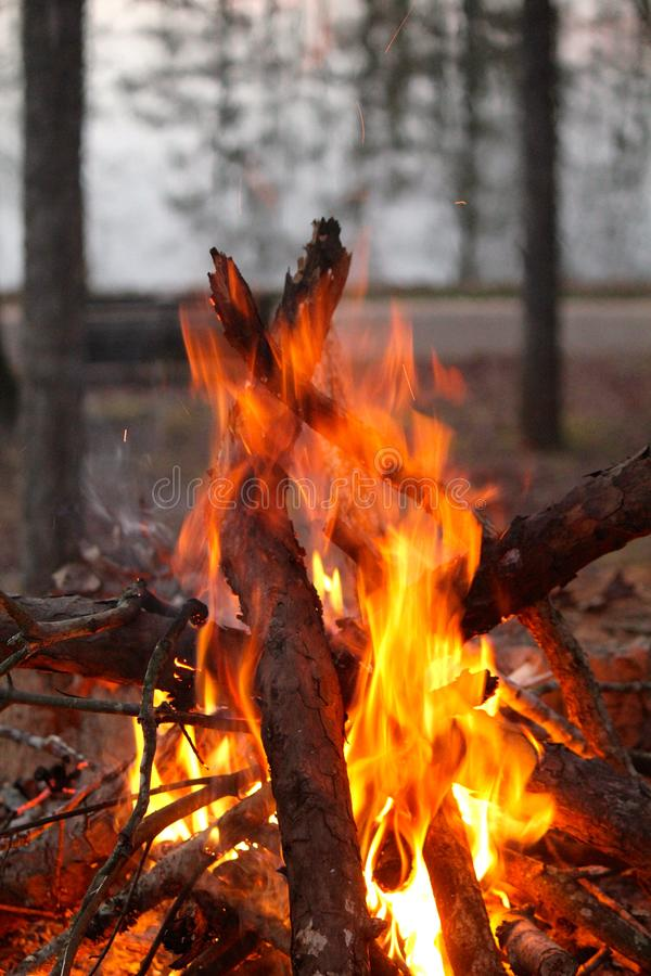 Огонь на воде! стоковые фотографии rf