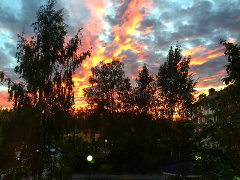 Огонь на облаках стоковые изображения rf