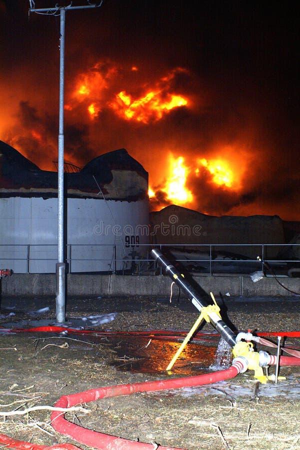 Огонь 2005 склада горючего Bouncefield стоковое изображение rf