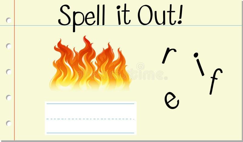 Огонь слова произношения по буквам английский бесплатная иллюстрация