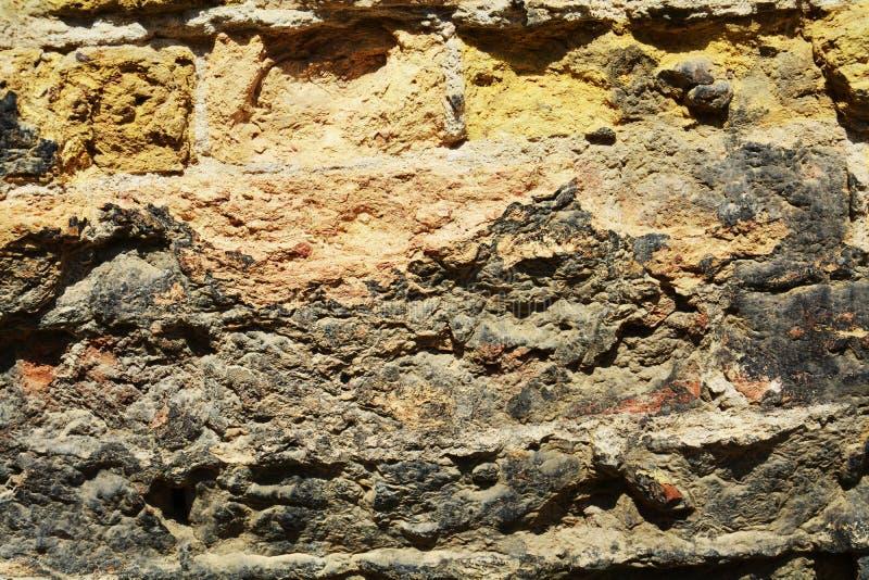 Огородите предпосылку, тени, текстуру здания кирпича античную, в Венеции, Италия стоковая фотография rf
