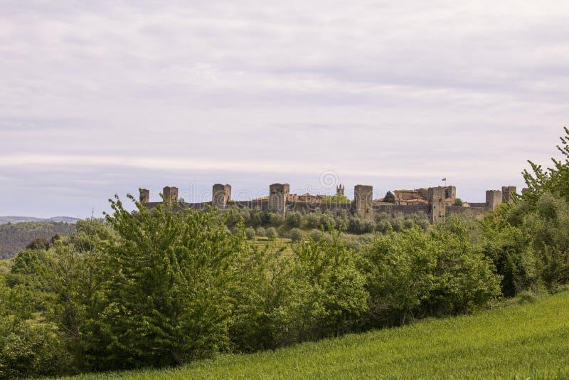 Огороженное Monteriggioni стоковая фотография rf