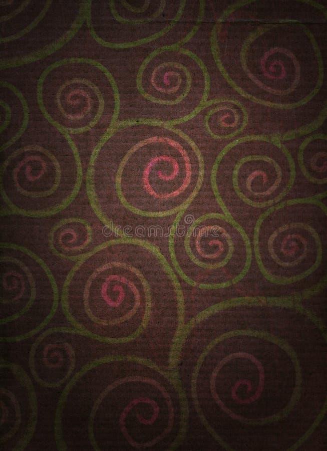 огорченные флористические спирали стоковое фото rf
