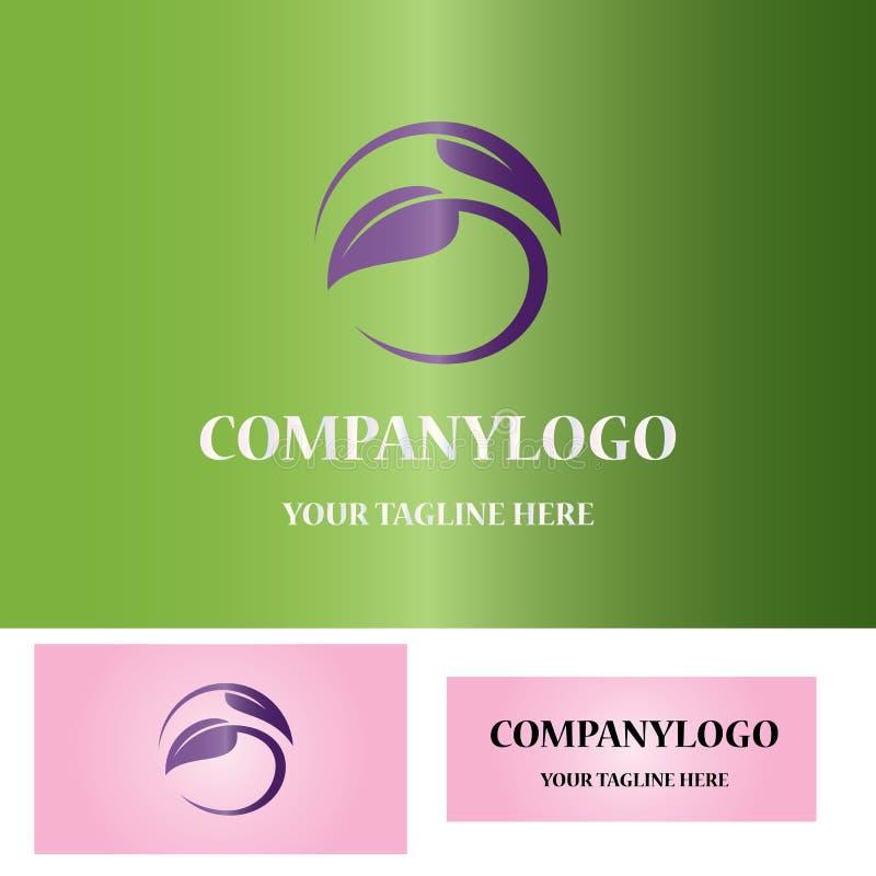 логос листьев круглый иллюстрация вектора