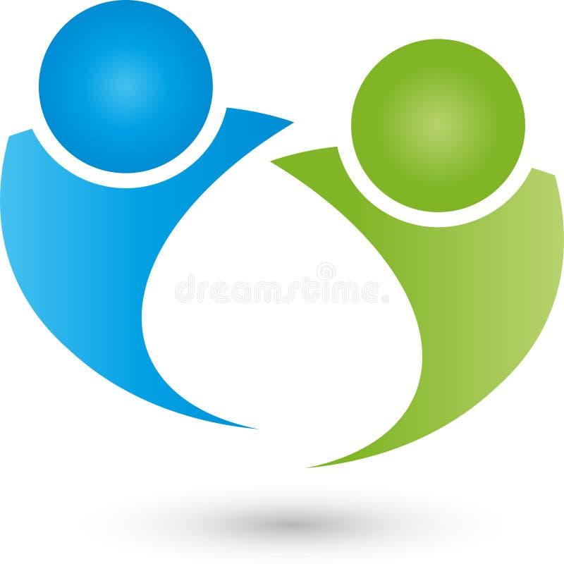 2 логотипа людей, конспекта, партнера и пар бесплатная иллюстрация