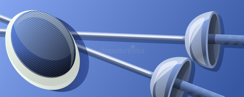 Ограждать знамя концепции спорта, стиль мультфильма иллюстрация вектора