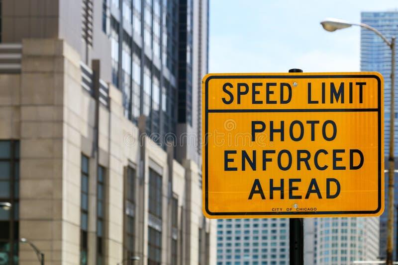 Ограничение в скорости в Чикаго стоковая фотография rf