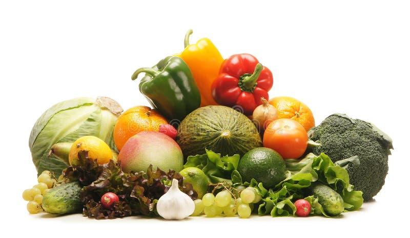 Огромная куча свежих фруктов и овощей стоковая фотография rf