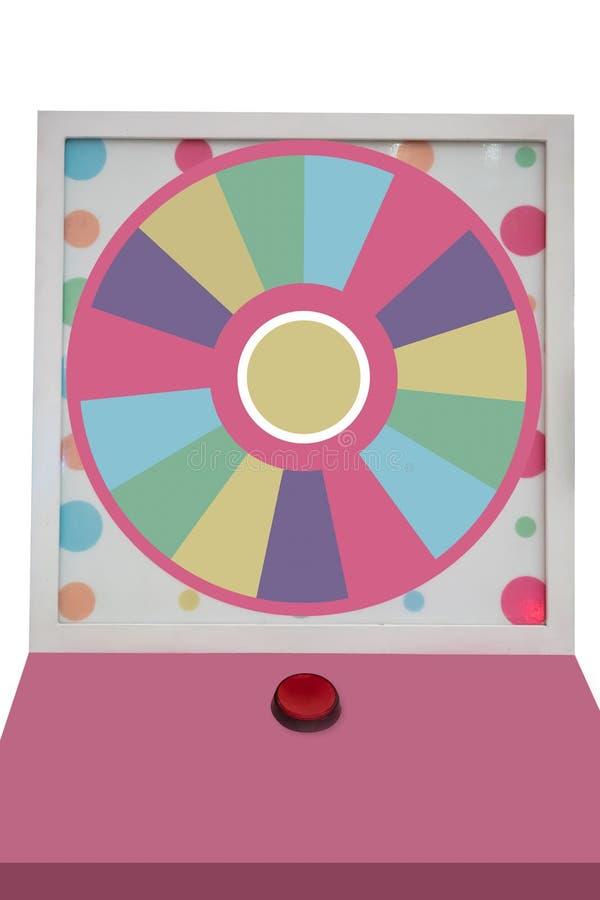 Огромное красочное колесо удачи изолированное на белой предпосылке стоковое изображение rf