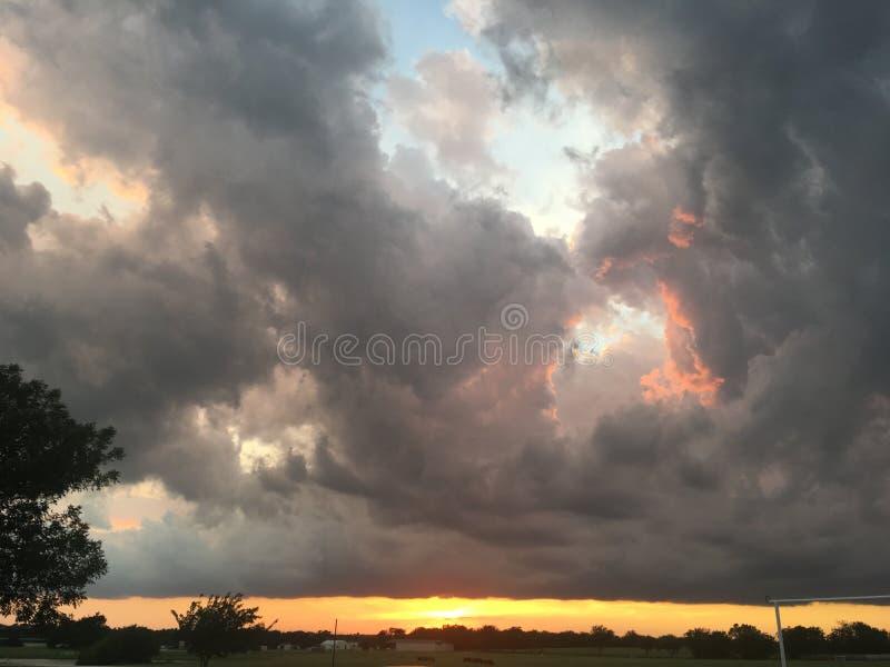 Огромные облака стоковая фотография rf