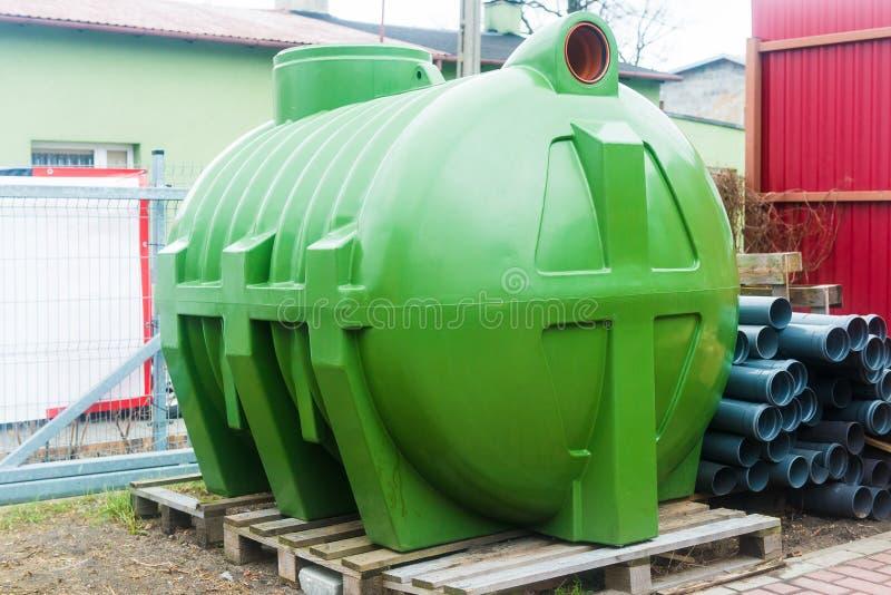Огромный канализационный резервуар стоковая фотография rf