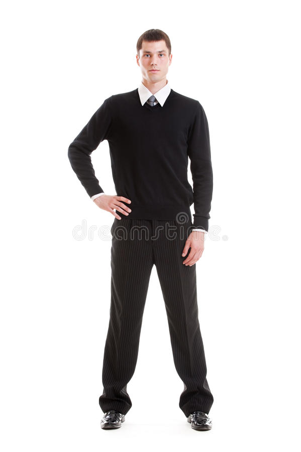 одевает официально красивого человека серьезного стоковые фото