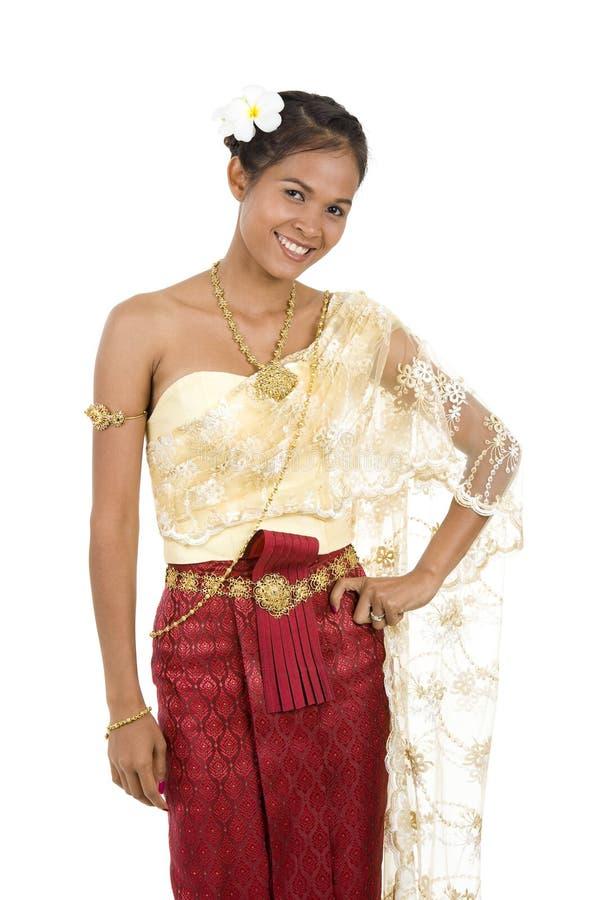 одевает тайскую традиционную женщину стоковые изображения