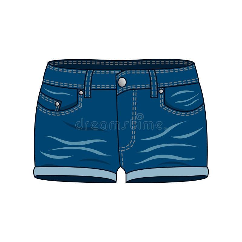 Одежда женщин - шорты джинсовой ткани бесплатная иллюстрация