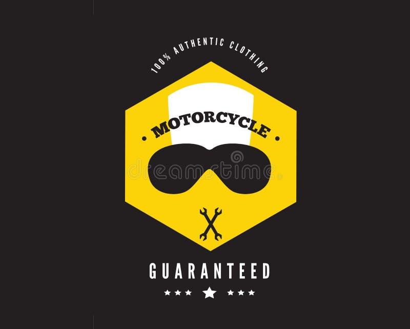 одежда 100% подлинная, значок гонки мотоцикла бесплатная иллюстрация