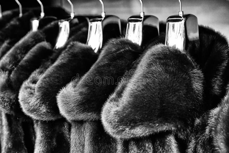 Одежда outerwear руки куртки кармана рукава клобука магазина бутика пальто воротника стоковое изображение rf