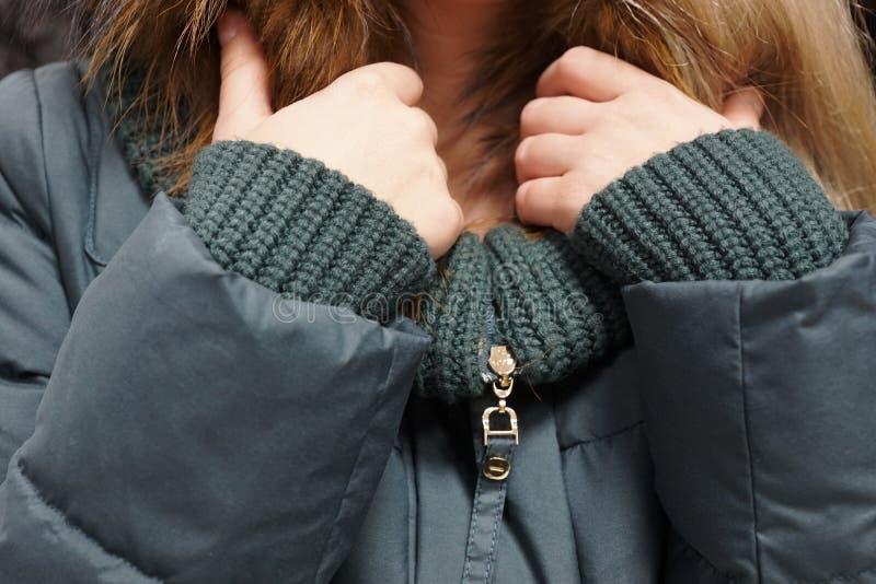 Одежда outerwear руки куртки рукава клобука магазина бутика пальто воротника стоковое изображение rf