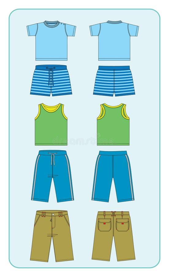 одежды мальчиков иллюстрация вектора