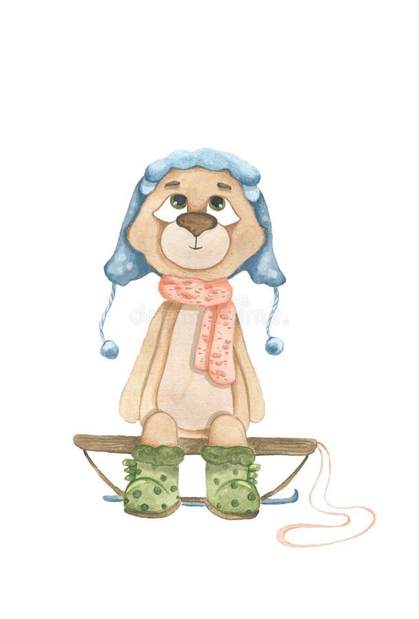 Одежды медведя младенца нося согласно различной погоде бесплатная иллюстрация