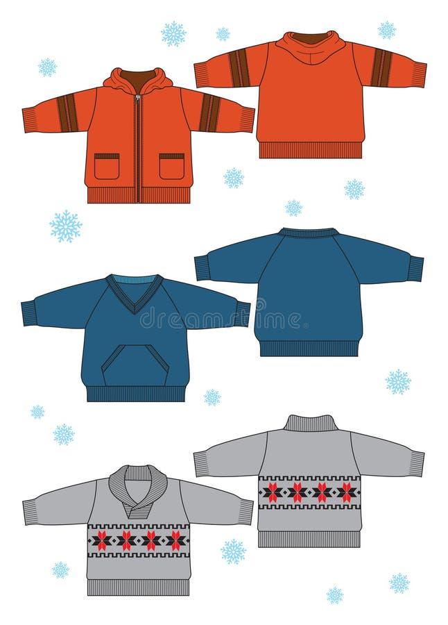одежды младенца иллюстрация вектора