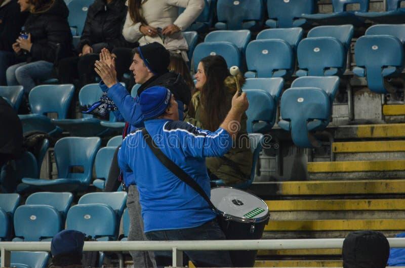 ОДЕССА, УКРАИНА - 3-ье ноября 2016: Вентиляторы во время Европы UEFA стоковая фотография rf