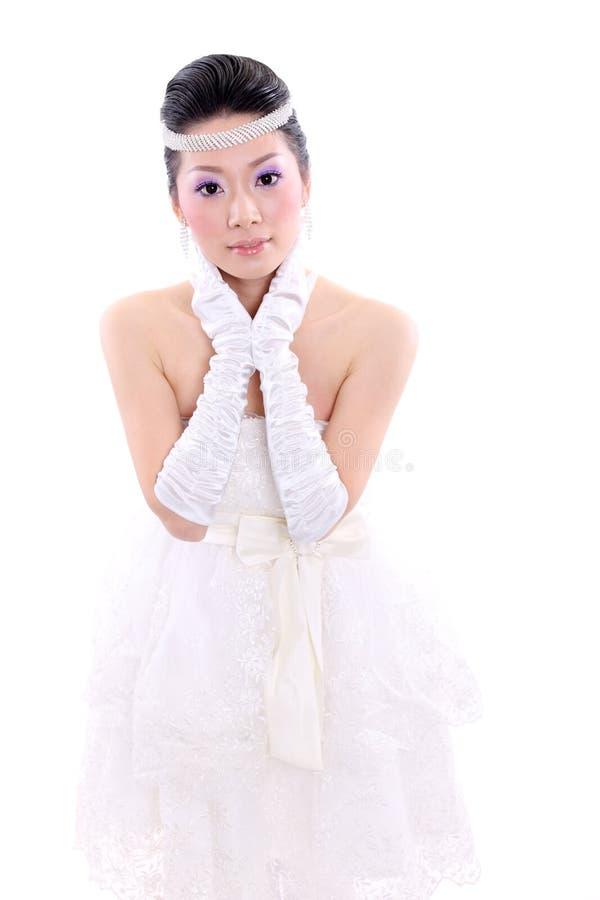 одетьйте венчание девушки стоковое изображение