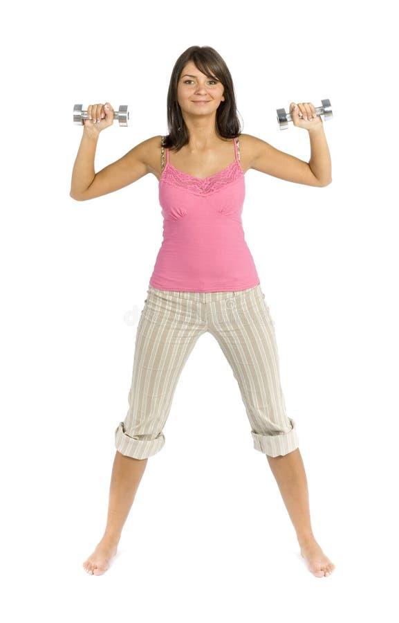 Download одетьнная женщина тренировки спорта Стоковое Фото - изображение насчитывающей славно, гимнастика: 1178484