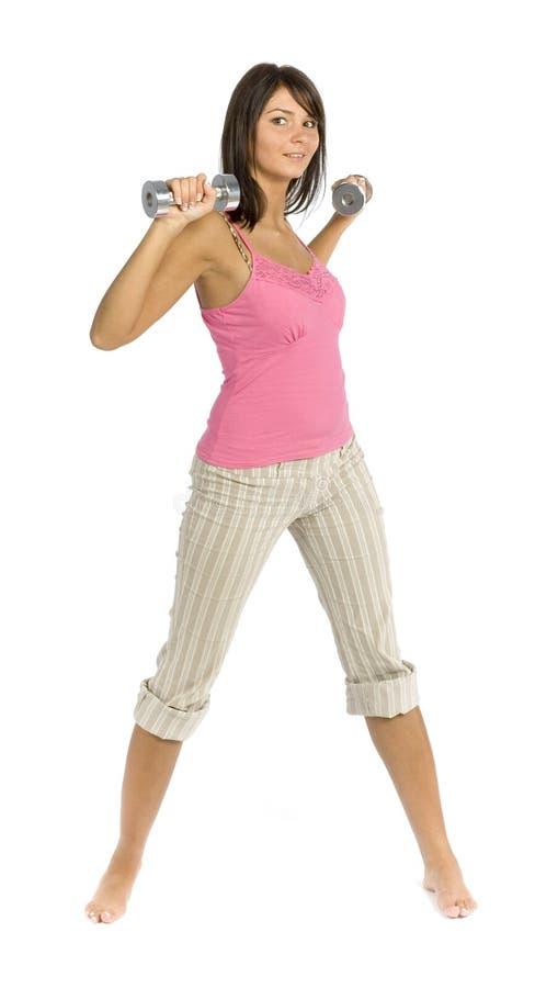 Download одетьнная женщина тренировки спорта Стоковое Фото - изображение насчитывающей привлекательностей, overweight: 1178486