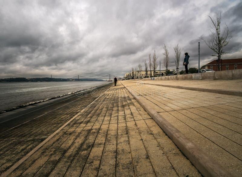 Одиночество в Лиссабоне Португалия стоковое изображение rf