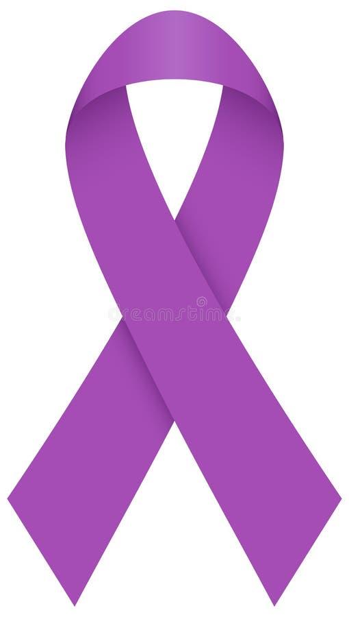 Одиночная изолированная графическая фиолетовая петля иллюстрация штока