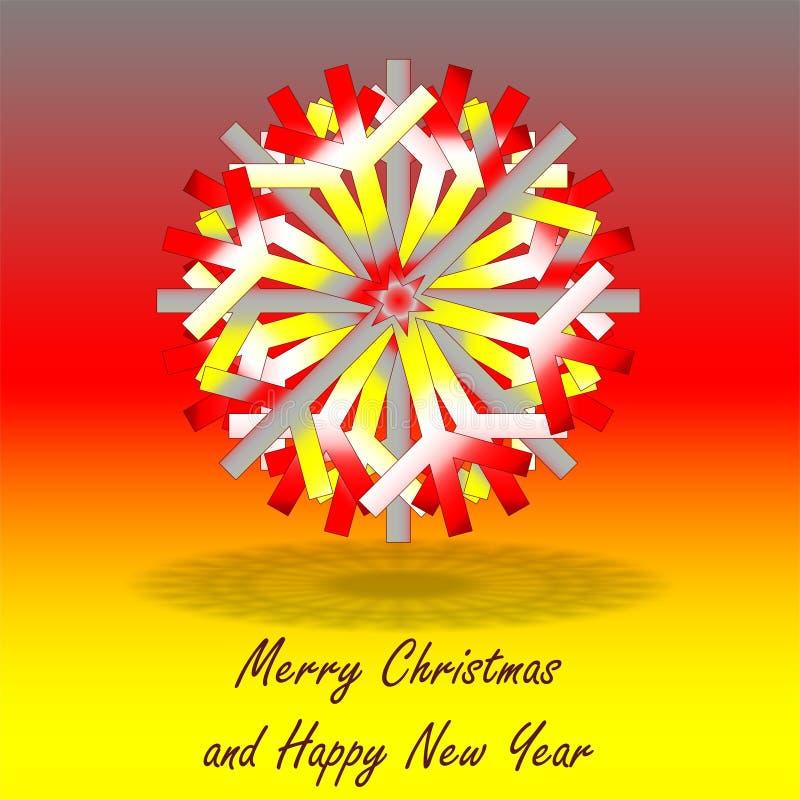 Одиночная серая красная желтая звезда рождества, на предпосылке с цветами воодушевленная немецким флагом, с приветствиями иллюстрация вектора