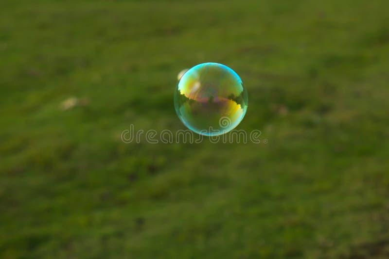 Одиночное летание пузыря на воздухе стоковые изображения