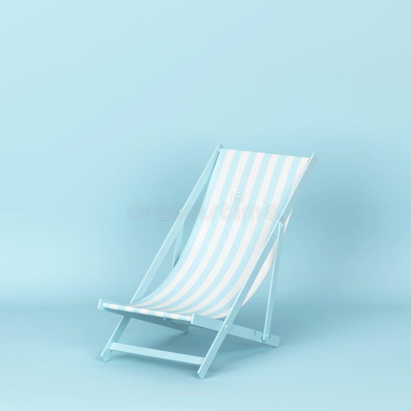 Одиночное deckchair для релаксации на пляже бесплатная иллюстрация