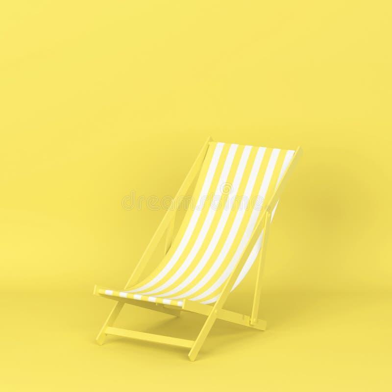 Одиночное deckchair для релаксации на пляже иллюстрация штока