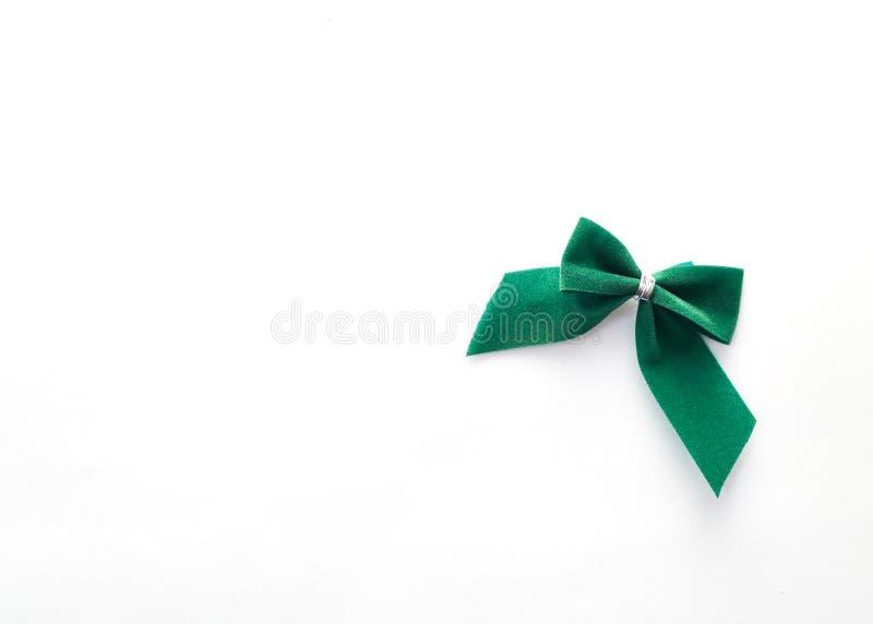 одиночный зеленый смычок бархата стоковые изображения