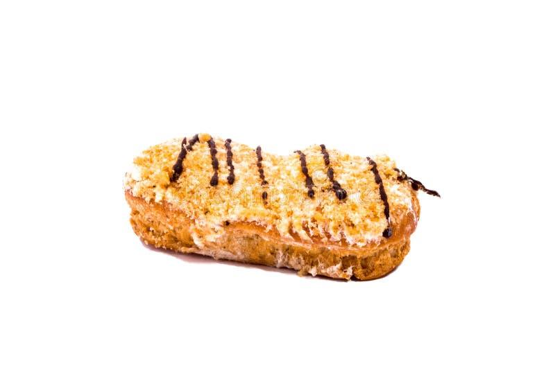 Одиночный кусок яблочного пирога изолированный на белой предпосылке стоковые фото