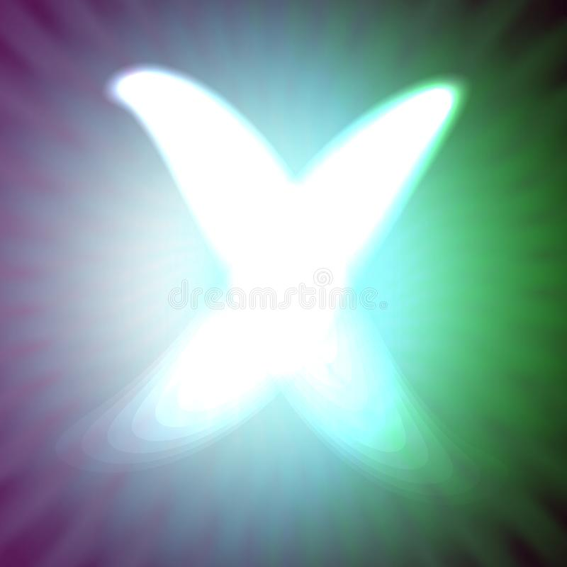 Одиночный свет - голубое неоновое письмо x иллюстрации вектора бесплатная иллюстрация
