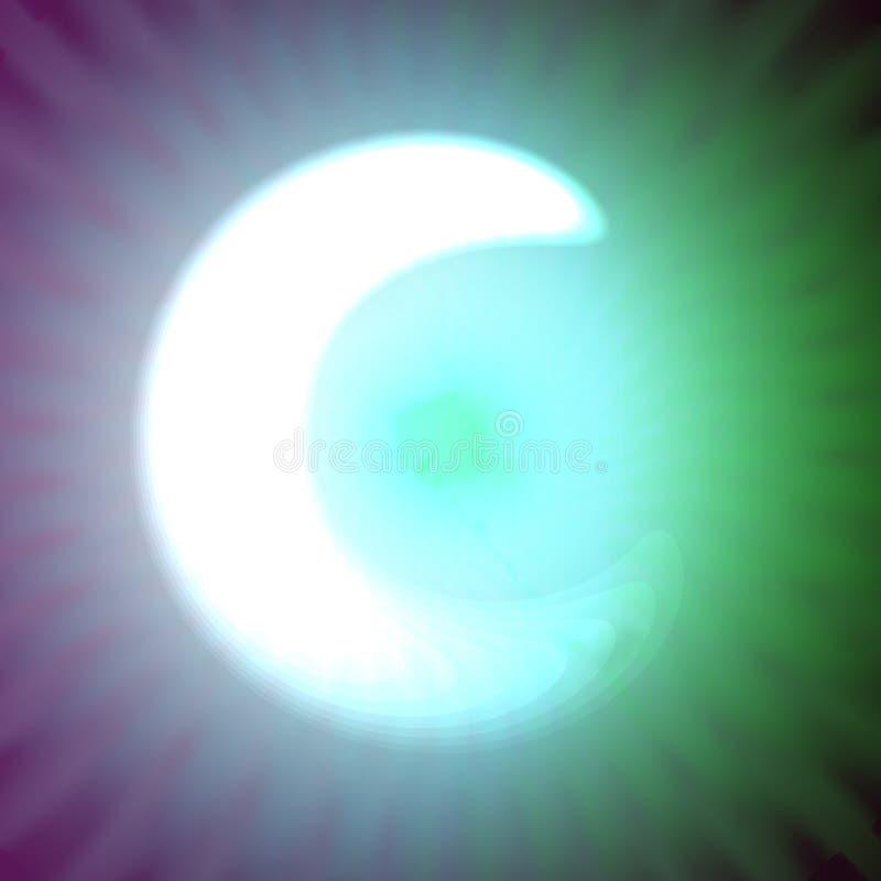 Одиночный свет - голубое неоновое письмо c иллюстрации вектора бесплатная иллюстрация