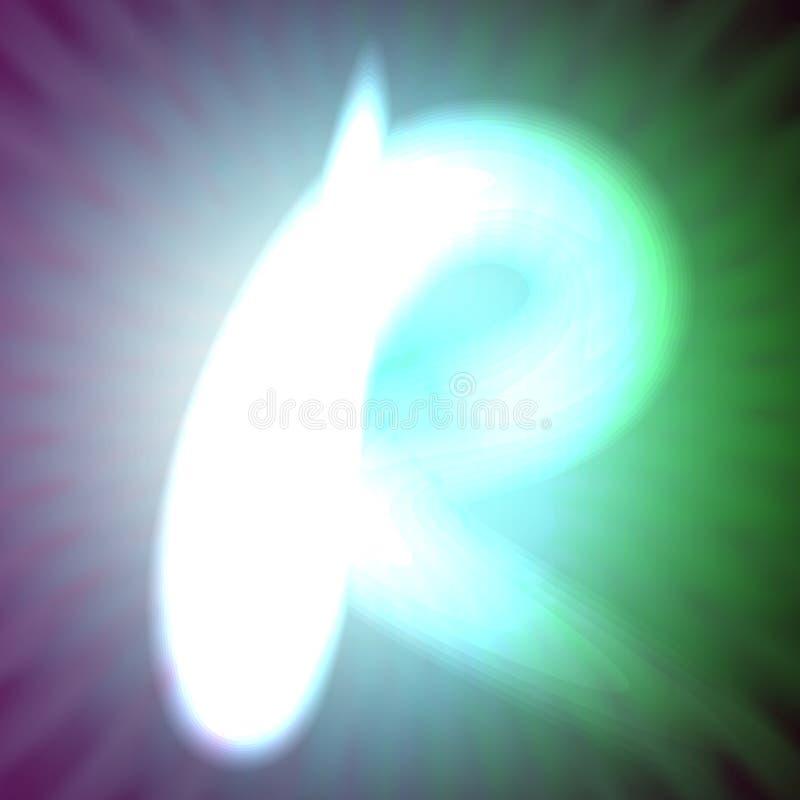 Одиночный свет - голубое неоновое письмо r иллюстрации вектора иллюстрация вектора