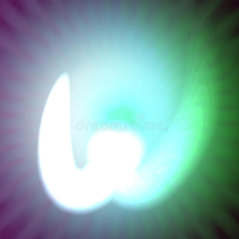 Одиночный свет - голубое неоновое письмо w иллюстрации вектора иллюстрация вектора