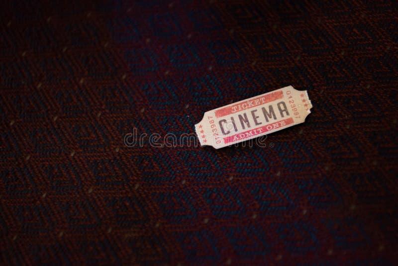 один билет кино стоковое изображение rf