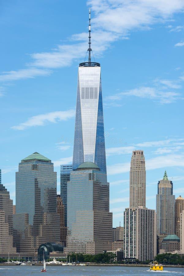 Один всемирный торговый центр, Нью-Йорк, США стоковое фото rf