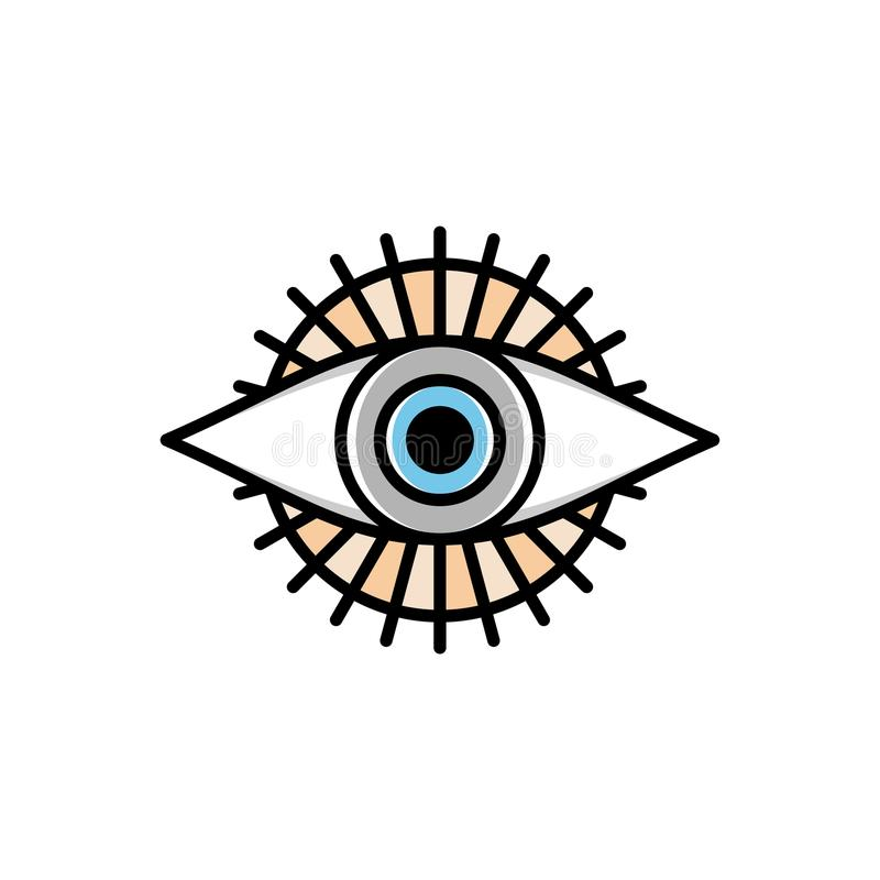 Один глаз логотипа логотипа символа знака бога религиозного иллюстрация вектора