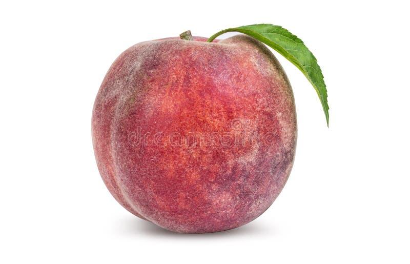 Один зрелый персик стоковое изображение rf