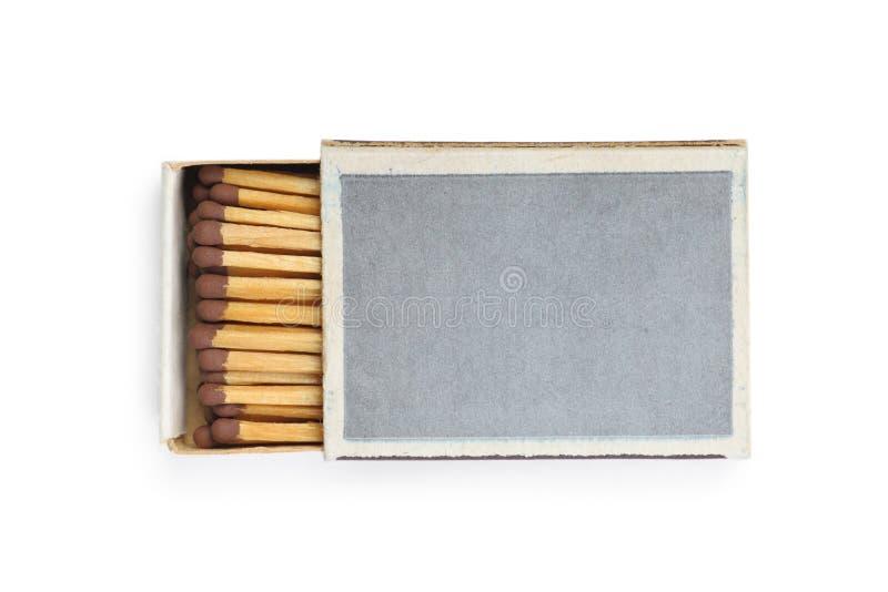 Один изолированный matchbox стоковое фото